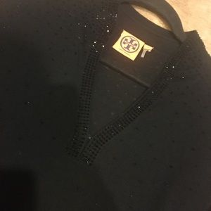 Black beaded Tory Burch sweater